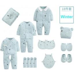 18 sztuk/0-3 miesięcy wiosna odzież jesienna dla noworodków 100% bawełna dzieci ubrania garnitur Unisex niemowlę chłopcy dziewcz