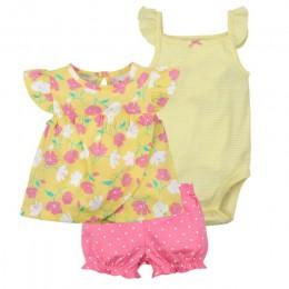 Nowe lato 2019 ubranie dla dziewczynki księżniczka 3 sztuki niemowlę dziewczynki zestawy ubrań, 6 M-24 M strój akcesoria dla dzi