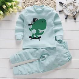 2019 jesień nowy zestaw ubrań dla dzieci Cartoon bawełna dla niemowląt chłopców odzież dla dziewczynek komplet garniturów 0-3 la