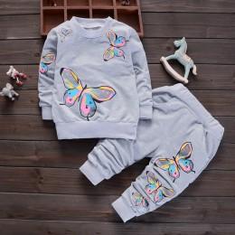 BibiCola dzieci wiosna dziewczynek odzież ustawia nowe małe dziewczynki zestaw ubrań dla niemowląt dziewczynek bawełniana kurtka