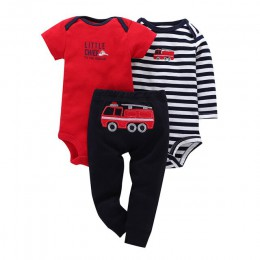 Dziewczynka noworodek chłopiec zestaw bawełna infantil dziewczynka ubrania z długim rękawem body list + spodnie zwierząt słoń 3