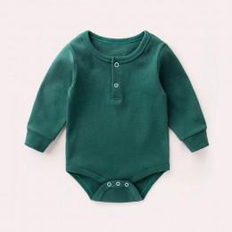 Śpioszki dziewczęce 0-2Y jesienno-zimowa noworodek ubranka dla dziewczynek z długim rękawem dla dzieci chłopcy kombinezon dla ni