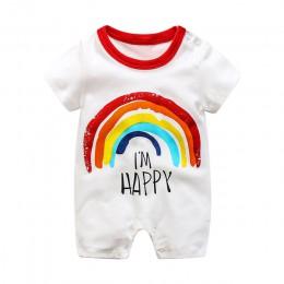 2019 lato w nowym stylu z krótkim rękawem dziewczyny sukienka dziecko Romper bawełna noworodka kombinezon dla dzieci piżamy chło