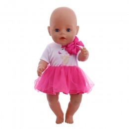 Lalka jednorożec ubrania 15 zestawów t-shirt + spódnica/spodnie sukienka Fit 18 Cal American & 43 Cm noworodki Baby Doll Generat