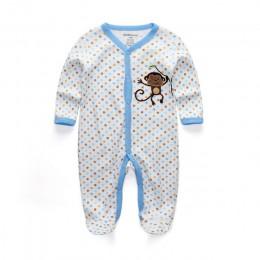 Letnie śpioszki dla niemowląt wiosenne ubranka dla noworodków dla dziewczynek chłopcy z długim rękawem ropa bebe kombinezon odzi