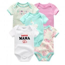 5 sztuk/partia śpioszki dla niemowląt 2020 z krótkim rękawem 100% bawełniane kombinezony noworodka ubrania Roupas de bebe chłopc