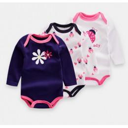 2019 nowe body niemowlęce różowy słoń z długim rękawem zestawy chłopięce ogólnie bawełna niemowlę dziewczyny kombinezon noworodk