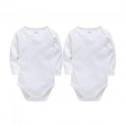 Body niemowlęce bawełna noworodka puste z długim rękawem 0-24 miesięcy chłopiec biała obudowa Bebes Blanco Roupa Menina ubranie