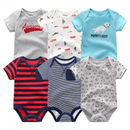 2019 6 sztuk/partia Unisex jednorożec Baby Boy ubrania bawełniane ubrania dla dzieci noworodka pajacyki 0-12M dziewczynka ubrani