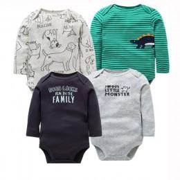 4 sztuk/partia noworodka odzież 2018 nowych moda dla dzieci chłopcy dziewczęta ubrania 100% bawełna body dziecięce kombinezon z