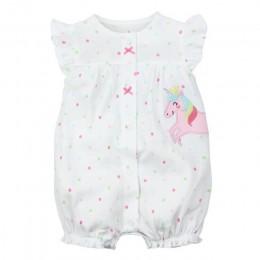 2019orangemom letnia dziewczynka ubrania jednoczęściowe kombinezony odzież dziecięca, bawełniane krótkie śpiochy niemowlę dziewc