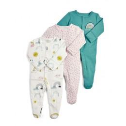 Śpioszki dziewczęce noworodek Sleepsuit kwiat śpioszki dla niemowląt 2019 niemowlę ubranka dla dzieci z długim rękawem kombinezo