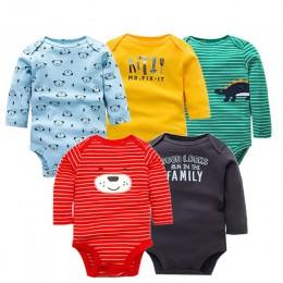 5 sztuk/partia bawełniane kombinezony dziecięce Unisex kombinezon dla niemowląt moda dla niemowląt chłopcy dziewczęta ubrania z
