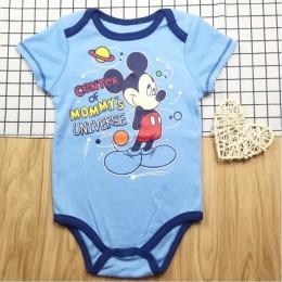 Letnia moda dla niemowląt chłopcy Halloween jednoczęściowy body mamusia mały koszmar drukuj dżentelmen kombinezon ubrania strój