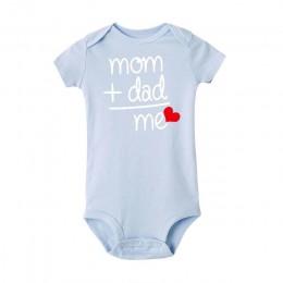 8 kolory noworodka maluch Baby Boy dziewczyna tata + mama strój kostium Romper ubrania z krótkim rękawem dziewczynka roupa de be