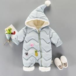 Zimowe pajacyki dziewczynka noworodka ubrania dla dzieci chłopcy dziewczyny kombinezon dzieci dół bawełniane kombinezony snowsui