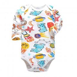 Noworodek body niemowlęce bebes ubrania z długim rękawem bawełna z nadrukiem odzież niemowlęca 1 szt. 0-24 miesięcy