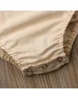 Śliczne nowonarodzone dzieci body Baby Boy dziewczyna ubrania Babygrow kombinezon Sunsuit stroje Soild ubrania dla dzieci lato 2