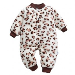 Śpioszki dla niemowląt kombinezon z długim rękawem Bebe odzież dla niemowląt grube ciepłe, jesienne zimowe ubrania dla noworodkó