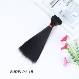 Bybrana 15cm * 100cm i 25cm * 100cm długie proste wysokiej temperatury włókna BJD SD peruki diy do włosów dla lalek darmowa wysy