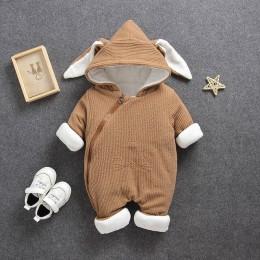2019 nowe śpioszki dla niemowląt kombinezony ubrania zimowe chłopiec dziewczyna odzieży zagęścić ciepłe czystej bawełny odzieży