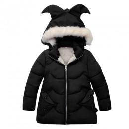 Dziewczynek płaszcz i kurtka dziecięca odzież wierzchnia zimowe płaszcze z kapturem kurtka zimowa moda dziecięca płaszcz dziecię