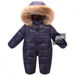 Zaprojektowany dla rosyjskiego zimowego kombinezonu dla dzieci, 90% kurtka z puchu kaczego dla dziewczynek płaszcze zimowy Park
