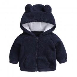 Noworodek ubrania dla dzieci jesień zima ciepła kurtka z kapturem i płaszcz dla 3-18M maluch baby boy girls cartoon niedźwiedź o