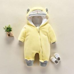 Nowe dziecko Cartoon Romper dziecko zimowe ubrania z kapturem kurtka dla niemowląt dziewczyna chłopiec ciepły płaszcz dla dzieci