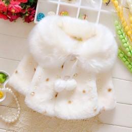 W nowym stylu Baby Toddler niemowlę dziewczynki ubrania śliczne futro z polaru 2019 Winter Warm Coat odzież wierzchnia płaszcz k