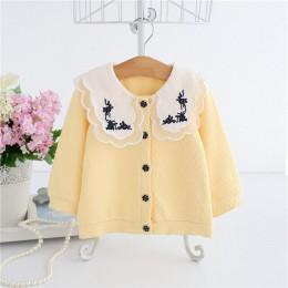 Dziecko wiosenne płaszcze 2020 wiosna styl angielski haft noworodek odzież wierzchnia dla malucha moda znosić kurtka dziecięca 0