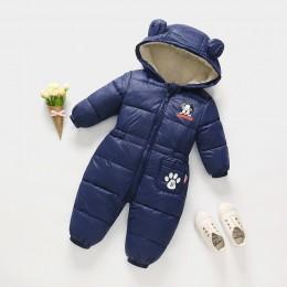2019 nowa zimowa wiosna pajacyki ubranka dla dzieci dzieci chłopiec dziewczyny kombinezon dół bawełniane kombinezony snowsuit ku