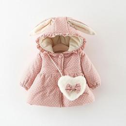 2019 noworodka dziewczynka ubrania kwiatowy z kapturem z kapturem z bawełny wyściełane kurtka odzież wierzchnia na 1 rok urodzin