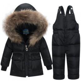 Rosyjskie zimowe płaszcze odzież wierzchnia moda parki z kapturem kombinezon niemowlęcy kombinezon dziecięcy zagęścić odzież na