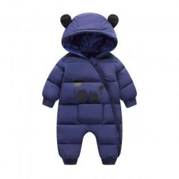 2019 nowy bron mroźna zima Panda kostium dla dzieci kombinezony pajacyki kombinezon dziewczynka noworodek ubrania chłopiec Snows