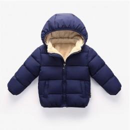 Dla dzieci zima zagęścić płaszcz kurtki zimowe dla dzieci jesień zima odzież wierzchnia z odpinanym kapelusz niemowlę ciepły Sno