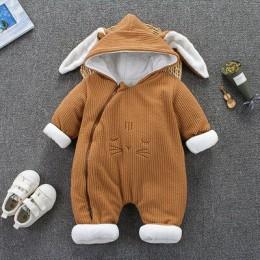 Zimowy płaszcz dla dzieci dla dzieci śpioszki dla niemowląt kombinezony ubrania 2018 chłopcy dziewczęta odzież zagęścić ciepłe c