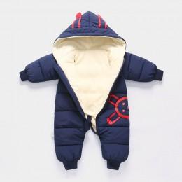 2019 kombinezon kombinezon zimowy dla dzieci noworodka oraz aksamitna kombinezon odzież na śnieg płaszcz chłopiec ciepłe Romper