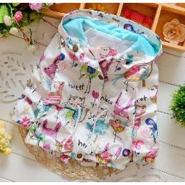 1st wiosna i jesień 2017 nowa bawełniana kardigan dla dziewczynek płaszcz spędzić trzy kwiaty Lollipops Dot kurtka dzieci odzież