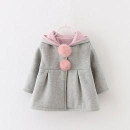 R & Z kurtka dziecięca 2019 jesienią i zimą nowe dziewczyny bawełna kreskówka uszy królika kurtka dziecięca gruba bawełniana blu