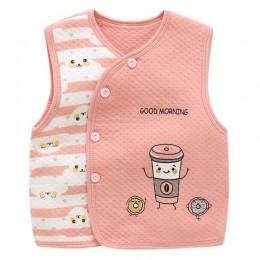 Bawełna 3-24M Baby boy dziewczyna zimowa kamizelka dziecko kamizelki futro kamizelka jesień dzieci noworodka ubrania dla dzieci
