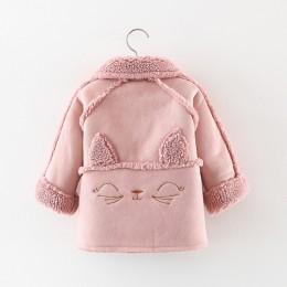 Keelorn dziewczynek 2020 kurtka futro kot kreskówkowy maluch dzieci płaszcz z kapturem zimowa kurtka dla dzieci wiosna jesień ma
