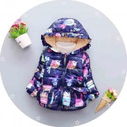 BibiCola zimowe odzież wierzchnia dziewczęca dla niemowląt dzieci dziewczyny parki z kapturem dla niemowląt kurtki dla dziewczyn