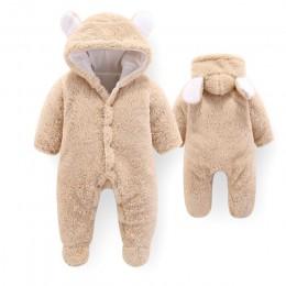 CYSINCOS 2019 jesień zima płaszcz kombinezon odzież dla niemowląt noworodka Snowsuit chłopiec ciepłe Romper puchowe bawełniane k