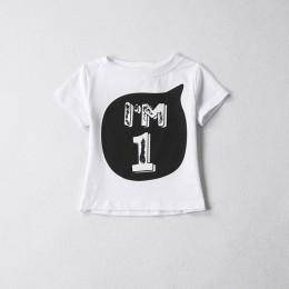 2019 chłopcy dziewczęta t-shirty z krótkim rękawem letnia koszula dziecko dziecko dzieci odzież numer urodzinowy tshirt pierwsze