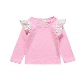 Noworodek maluch latający Tee ubrania z długim rękawem dla dzieci T Shirt śliczne wiosna jesień koszulki topy dziewczynek strój
