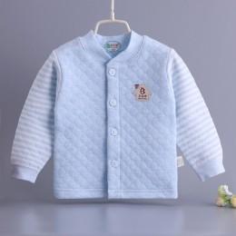 Jesienno-zimowa Baby boy girl grube ubrania 0-2Y baby 100% bawełna z długim rękawem bluza ciepłe ubrania sportowe dla baby girl