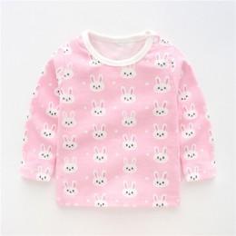 Jesień dziecko dziewczyny chłopcy bawełniane niemowlęta bluzki z długim rękawem koszulki zimowe maluch dorywczo Cartoon T Shirt