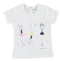 Ebebek HelloBaby dziewczynka podstawowy t-shirt bawełna kreskówka drukowane codzienne regularne dorywczo z krótkim rękawem O-Nec