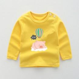 Jesień nowe dziecko jest koszulki dla dziewczynek chłopcy nowa koszulka z długim rękawem koszulki dla dzieci Cartoon wydrukowane
